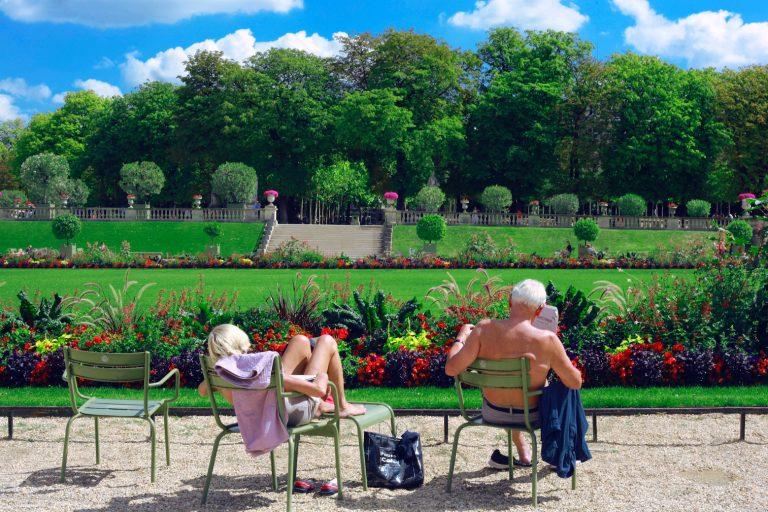 Lesen im Park