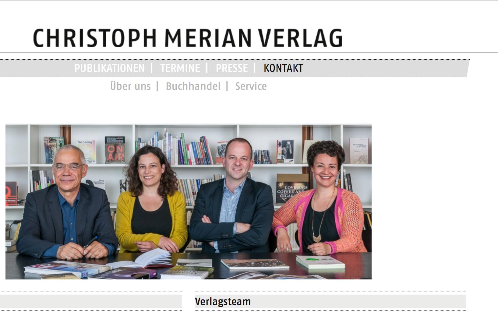 Christoph Merian Verlag Team