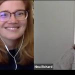 Lydia und Nina im Gespräch um 16 Uhr